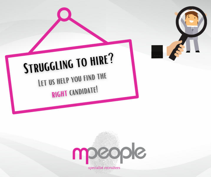 Let us help you find the right candidate!